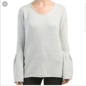 French Connection Bell Sleeve Sweater Gray    F121